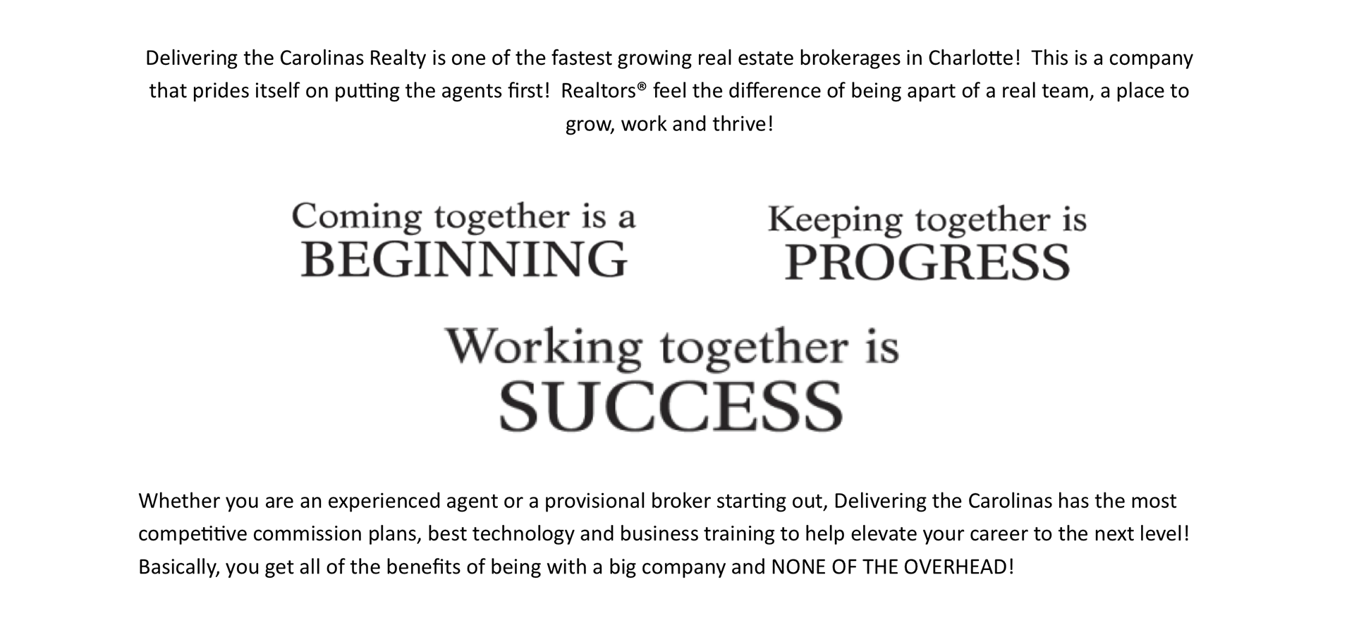 Join Us - Delivering The Carolinas Realty